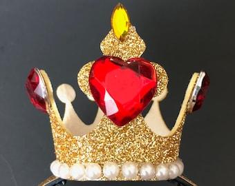 Queen Of Hearts Crown,White Queen Crown,Queen Of Hearts Headband,Queen Of Hearts Costume,Queen Of Hearts outfit,Queen Of Hearts dress,kids