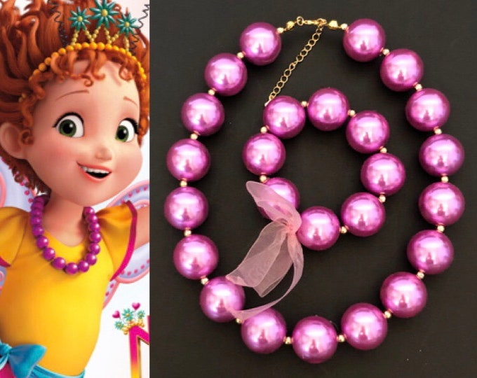 Disney Fancy Nancy Necklace,Fancy Nancy Costume,Fancy Nancy Tiara,Fancy Nancy head piece,Fancy Nancy Accessory,flower crown,Halloween crown