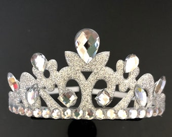 White Queen Crown,Alice in Wonderland,Tiara for Kids,White Queen Costume,disney princess crown,Silver crown,Snow Queen Crown,Snow princess