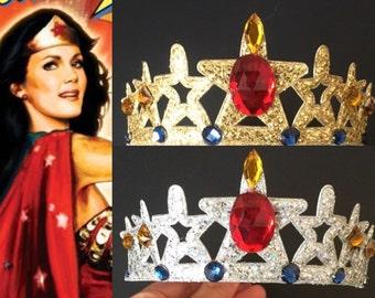 Wonder Woman Headband,Wonder Woman Crown,Wonder Woman accessory,girl power,Wonder Woman costume,party favor,comic con headband,Super hero
