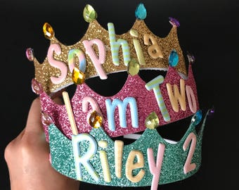 Personalized Crown,Birthday crown,Slumber Party Crown,Slumber Party Favor,Personalized Headband,kids photo prop,pink crown,Customized Crown