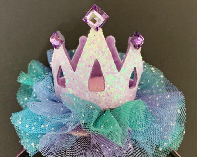 Ariel Birthday Hat,The Little Mermaid crown,Ariel Crown,Mermaid Crown,Mermaid Headband,disney princess crown,mermaid theme,Purple and blue