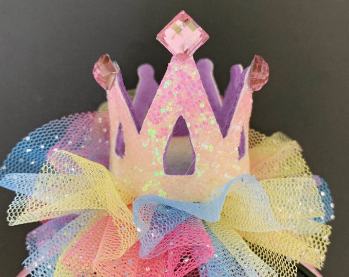 Rainbow Crown,Unicorn crown,Baby Birthday Crown,Rainbow Headband,princess,Pride parade,rainbow necklace bracelet,My Little Pony,Nowborn