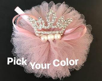 Tiara Hair Clip,Flower girl,Flower girl tiara,Crown Hair Clip,tiara,Birthday crown,first birthday crown,birthday girl,kids crown,pink crown