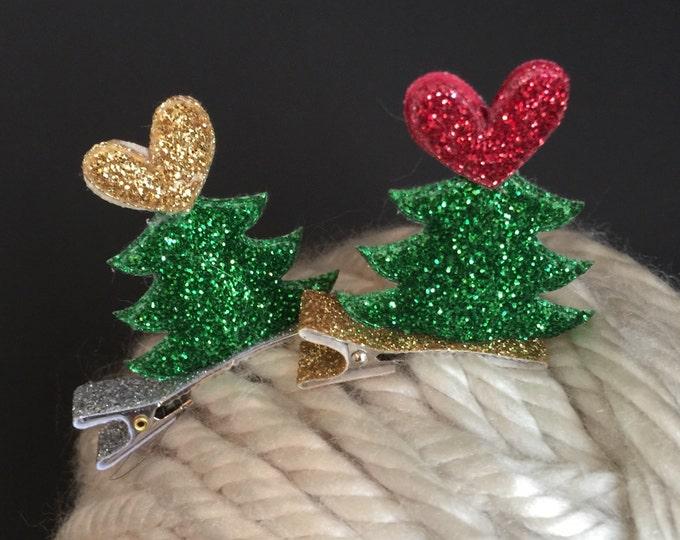 SALE,Christmas Hair Clip,Christmas cone,Christmas party hat,Christmas hair clip,christmas party,santa hat,santa hat hair clip,tree hair clip