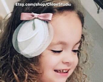 SALE!!!,Tulle Hair Bow,birthday hair bow,Chiffon Hair Bow,Chiffon Hair Clip,Flower Girl Hair Clip,Flower Girl Hair Bow,party hair clip,bow