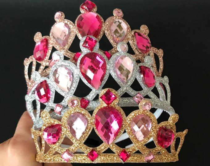 Aurora Crown,Aurora Headband,Birthday Crown,Sleeping Beauty Crown,Disney Aurora,disney princess crown,Aurora Elastic Headband,Pink crown