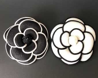 Camellia Brooch,Coco No.5 Brooch,Flower brooch,tweed jacket,CC Style brooch,Runway broche,luxury accessory,unique pin,coco pin,unique brooch