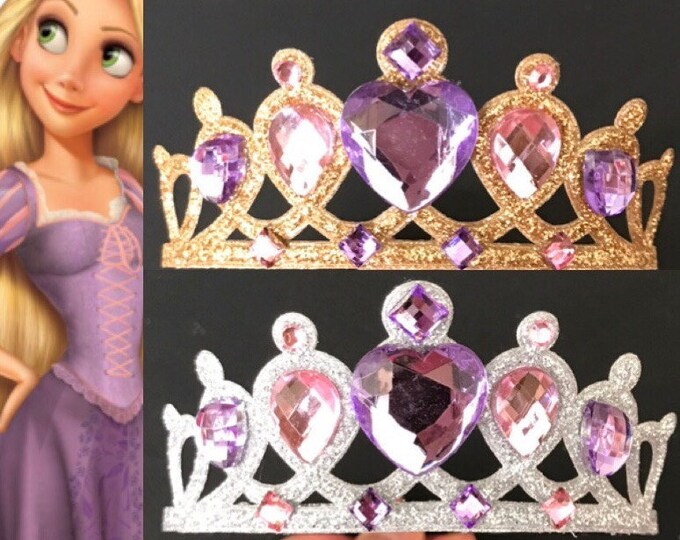 SaLE!!,Rapunzel Crown,Rapunzel Elastic Headband,Tangled Crown,Princess Sofia Crown,Sofia Princess Crown,birthday crown,Disney Rapunzel,Sofia