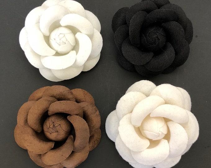 Camellia Brooch,Coco No.5 Brooch,Flower brooch,tweed jacket,CC Style brooch,Runway broche,luxury accessory,unique pin,coco pin,unique brooch