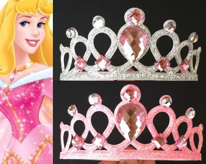 Aurora Crown Elastic Headband,Sleeping Beauty Crown,Disney Aurora crown,disney princess crown,Aurora Elastic Headband,Pinkalicious crown