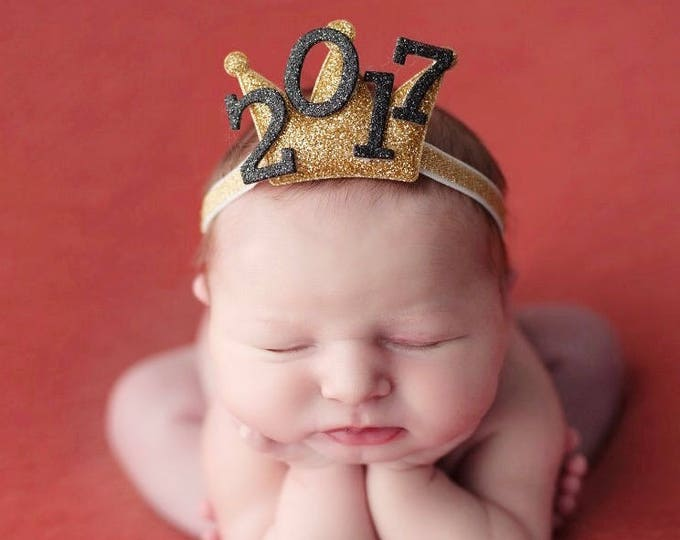 New Years Eve party Crown,2019 Crown,Baby New Years Elastic Headband,New Years Newborn Baby,Baby Crown Headband,2019 new years photo prop