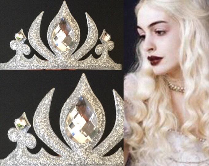 White Queen Crown,Snow Princess Crown,White Queen headband,Snow Princess Headband,disney elsa,photo prop,crown,Elsa elastic Headband