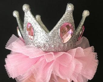 Aurora Birthday Crown,Aurora Elastic Headband,Sleeping Beauty Crown,Aurora costume,personalized Crown,disney princess crown,pink tulle crown