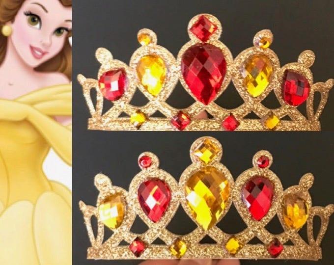 SALE!!,Belle Crown,Belle Headband,Belle Elastic Headband,Belle crown Headband,Disney belle Crown,disney princess crown,Beauty and the beast