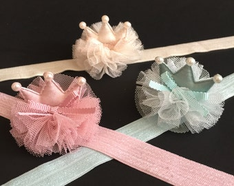 Crown Headband,First birthday Headband,Baby Headband,baby shower gift,one year birthday headband,mini crown,baby crown,newborn crown,crown