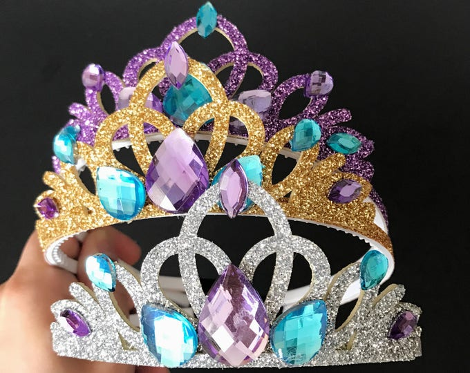 Ariel Crown,The Little Mermaid Ariel,Mermaid Crown,Mermaid Headband,Ariel Elastic Headband,disney princess crown,Purple Crown,Ariel costume