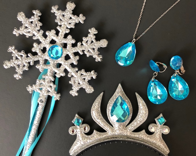 Elsa Crown Headband,Elsa Wand,Snowflake Wand,Elsa Scepter,Elsa Costume,Elsa Dress,Anna Crown,disney princess crown,Birthday crown,baby crown