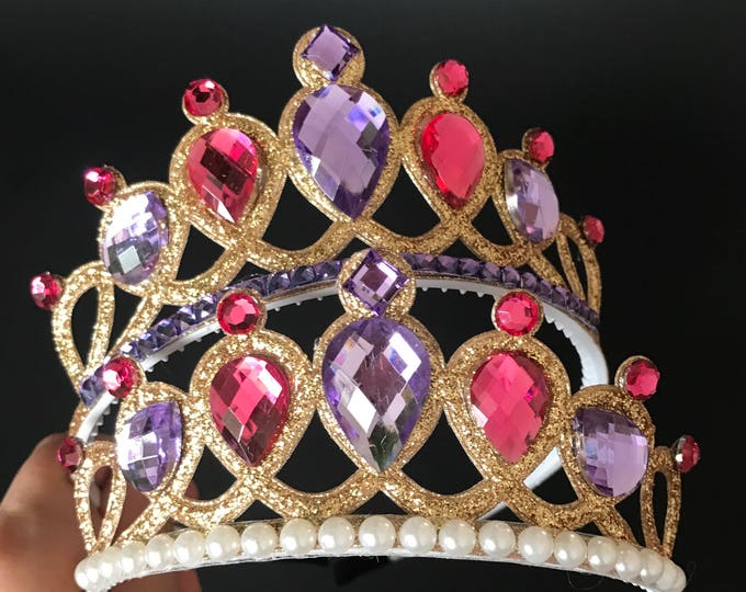 Ariel Crown,Ariel Elastic Headband,The Little Mermaid Ariel Crown,Mermaid Headband,disney princess crown,birthday crown,Purple and Pink