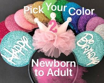 Birthday Minnie Ears,Baby Minnie Ears,Mint Minnie Ears,Custom Ears,Teenager Birthday Ears,Mickey Ears,
