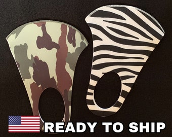 Military Mask Zebra Multilayer Antibacterial Adult Face Mask Washable Reusable Protective Made in USA Lime Beige white Gray Pink Mouth Army