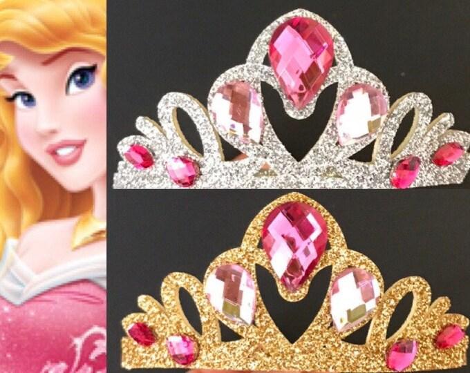 Aurora Crown,Aurora Headband,Sleeping Beauty Crown,Aurora crown Headband,Aurora Elastic Headband,Princess Aurora,cake smash,baby crown