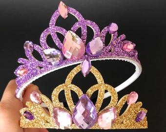 Rapunzel Crown,Rapunzel Elastic Headband,Tangled Crown,Rapunzel Costume,Rapunzel Dress,Sofia crown,disney princess crown,Rapunzel Tiara,