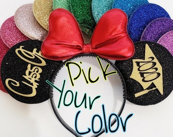 2020 Graduation Minnie Ears,Grad Mickey Ear,Graduation cap ear,Gold Bow,Graduation Disney ear,Class of 2020 mouse ears,Grad Minnie ear,Mini