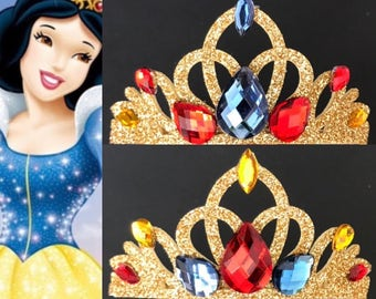 Snow White Crown,Snow White Elastic Headband,Snow White and the Seven Dwarfs,Snow white theme,snow white themed Birthday,Snow White Headband