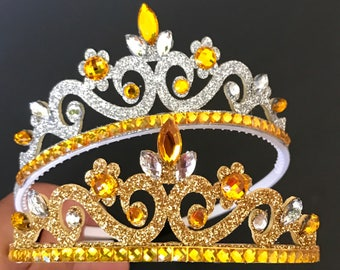 The Beauty And The Beast Crown,Birthday Crown,Belle theme,Bell Elastic headband,disney princess crown,Belle crown,Beauty and the beast theme