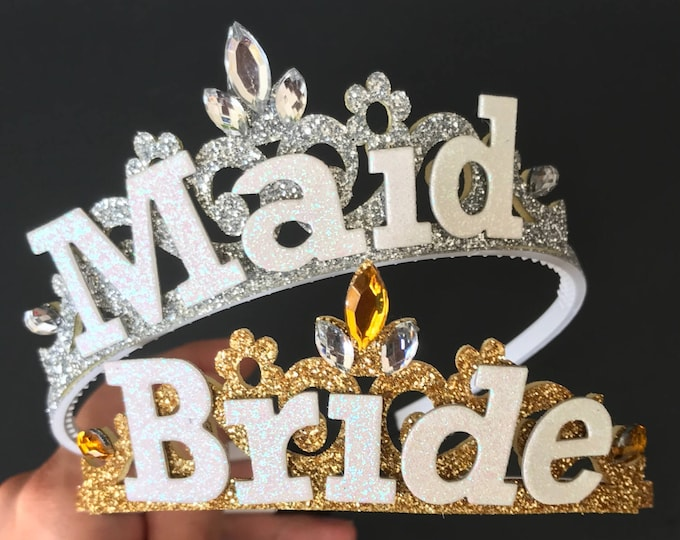 Bride Crown,Bachelorette Crown,Bride Headband,Bridal Crown,Bachelorette Party Hat,Bridal Shower Crown,wedding shower crown,bride maid crown