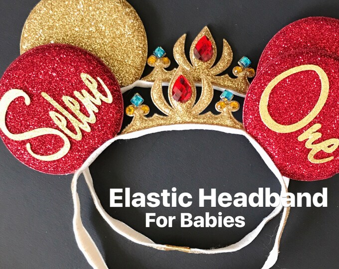 Elena Crown Minnie Ears,Personalized Minnie Ears,Customized Ears,Elena Minnie,Elena Minnie Headband,Tiara Minnie Ears,Princess Minnie Ears