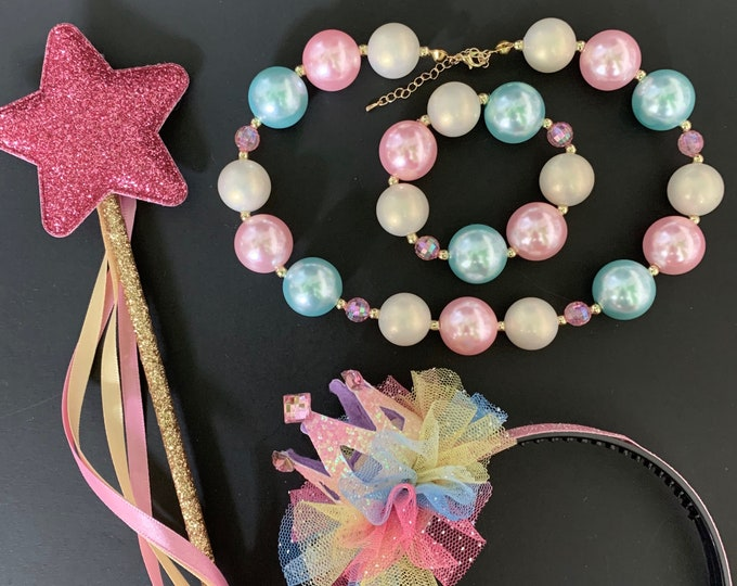 Unicorn Necklace,Bracelet,Rainbow Crown,Unicorn crown,Baby Birthday Crown,Rainbow Headband,Pride parade,My Little Pony,Newborn Crown,Wand