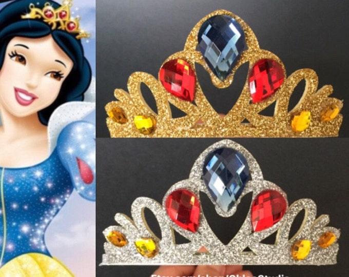 Snow White Crown,snow white elastic headband, Snow White and the Seven Dwarfs,Snow white headband,Snow white costume,snow white headband,