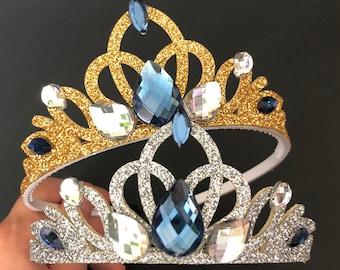 Disney Aurora Crown,Aurora Headband,Aurora costume,Aurora Navy Crown,Aurora outfit,disney princess crown,Aurora dress,Aurora Elastic Crown