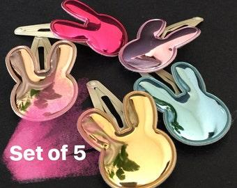 SALE!!,Bunny Hair Clip,Hair clip Sets,Rabbit Hair Clip,Easter Hair Clips,Spring Hair Clips,Baby snap Clips,baby hair clips,snap clip sets