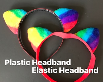 Mommy and me Cat Ears,Rainbow Cat Ear Headband,Baby Cat Ears,Toddler Cat Headband,Halloween Cat Ears,Halloween Headbands,Rainbow Headband