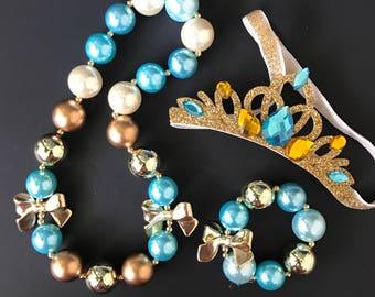 Jasmine Elastic Headband,Jasmine Crown,Jasmine headband,Aladdin Jasmine crown,Princess Jasmine crown,disney crown,Jasmine Accessory,Aliddin