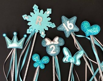 Blue Color Wand,Elsa Wand,Cinderella Wand,Elsa outfit,Glitter Wand,birthday Wand,baby photo prop,name wand,personalize wand,custom wand