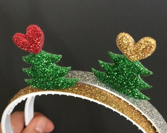 SALE,Christmas Tree Headband,Christmas Headband,Christmas party Headband,Christmas gift,christmas party favor,santa hat,christmas photo prop