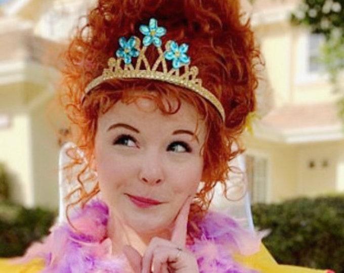 Disney Fancy Nancy Necklace,Fancy Nancy Costume,Fancy Nancy Tiara,Fancy Nancy head piece,Fancy Nancy Accessory,flower crown,Halloween crown
