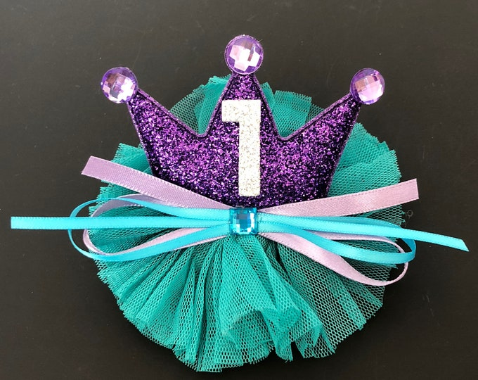 Ariel Birthday Hat,The Little Mermaid crown,Ariel Crown,Mermaid Crown,Mermaid Headband,disney Ariel,princess crown,mermaid theme,Ariel theme