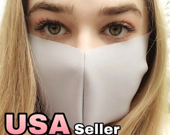 Ready To Ship! Multilayer Antibacterial Mask Adult Face Mask Washable Reusable Protective USA Homemade Mouth Mask Lime Beige white Gray Pink