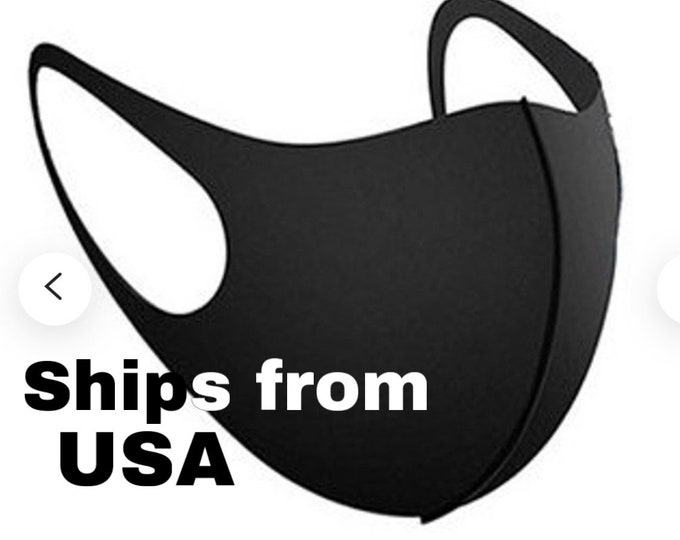 READY-TO SHIP Face Mask Adult Unisex Mouth Mask Anti-Dust Washable Reusable in Packs Black Mask Dust Mask Protective homemade usa  Cotton