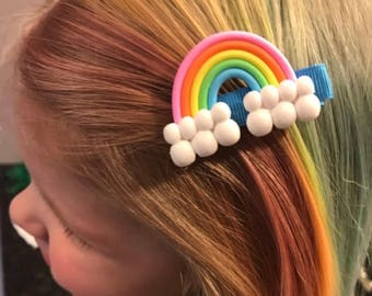 Rainbow Hair Clip,Baby Rainbow Hair Clip,Rainbow Alligator Clip,lollipop Alligator clip,rainbow party favor,Rainbow Accessory,rainbow theme