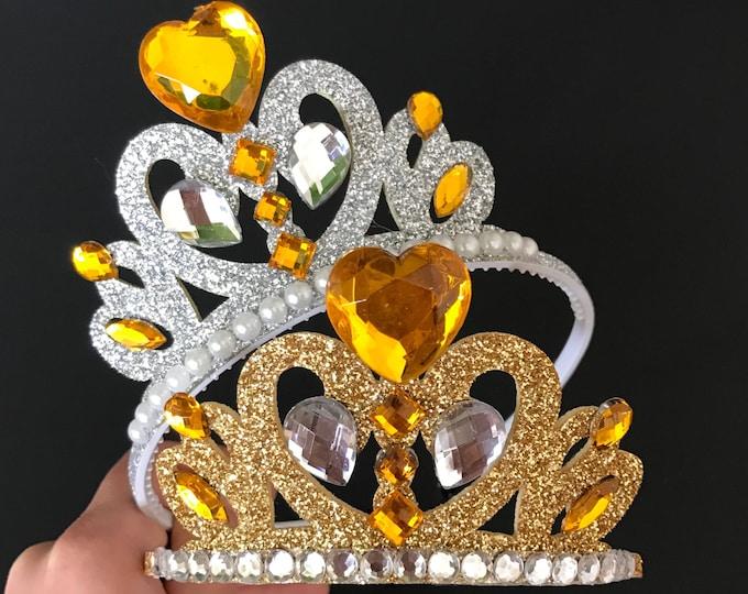 Belle Crown,Disney Belle,Belle crown Headband,Belle Elastic Headband,Beauty and the beast theme,Beauty and the beast crown,Belle theme,crown