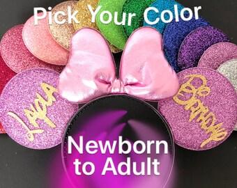 Rapunzel Minnie Ears,Personalized Minnie Ears,Customized Ears,Rapunzel Crown Minnie Ears,Princess Minnie Ears,Princess Ears,Rapunzel Mickey