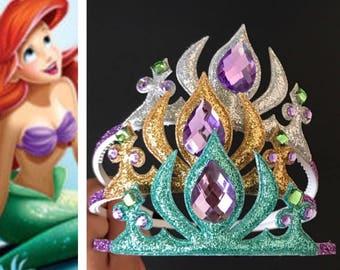 The Little Mermaid Ariel Crown,Ariel Crown,Mermaid Crown,Mermaid Headband,disney princess crown,Ariel Elastic Headband,Disney Ariel Crown