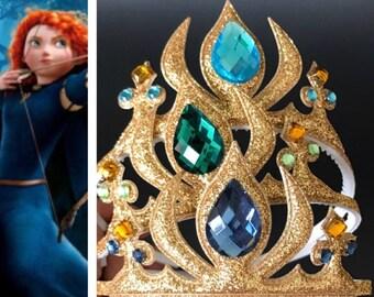 Princess Merida Crown,Brave Crown,Brave Headband,Brave Merida Crown,Princess headband,Navy blue Crown,disney crown,party favor.Brave theme