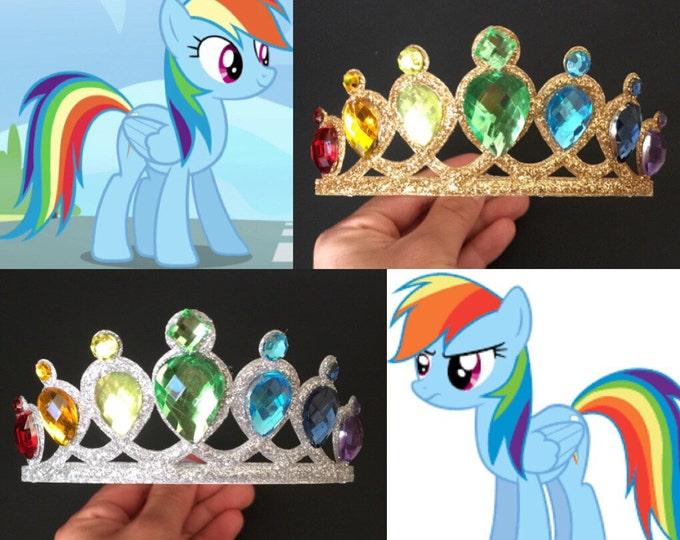 Rainbow Crown,My Little Pony Crown,Rainbow dash crown,Twilight Sparkle Crown,Rainbow dash costume,disney princess crown,Little Pony Headband